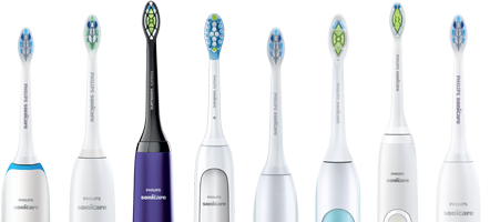 Philips Sonicare toothbrushes range