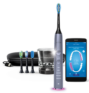 Philips Sonicare DiamondClean Smart toothbrush, HX9903/41 - Silver